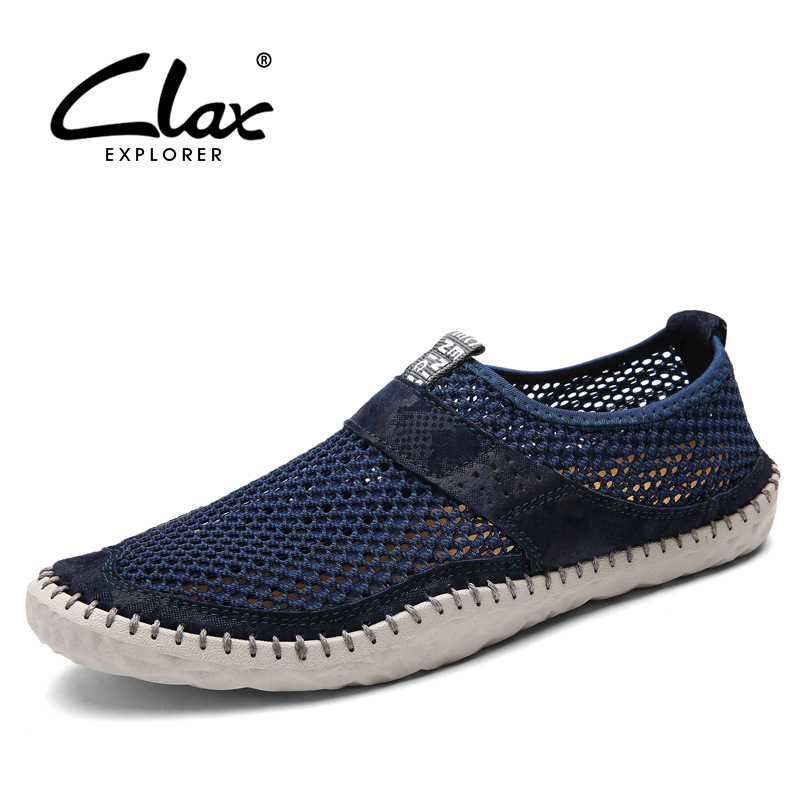 Clax Men's Summer Shoes Breathable 2018 Casual Mesh Shoe for Male Designer Flats Footwear Slip on Walking Shoe clax men summer shoes slip on 2017 breathable male flats loafers fisherman shoe casual white boat footwear leather sandals