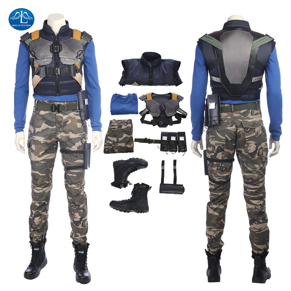 New Movie Black Panther Costume Erik Killmonger Cosplay Costume Halloween Costumes For Men Full Set Custom Made Free Shipping