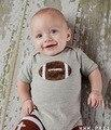 2016 Лето Одежда для Новорожденных Baby Boy Детская Одежда Милые Случайные Галстук Бейсбол Ползунки Комбинезон Восхождение Одежда Recem Nascido