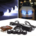Tiptop NEW  4in1 12V Hawkeye LED Car Emergency Strobe Lights DRL Wireless Remote Control Kit Free Shipping L701