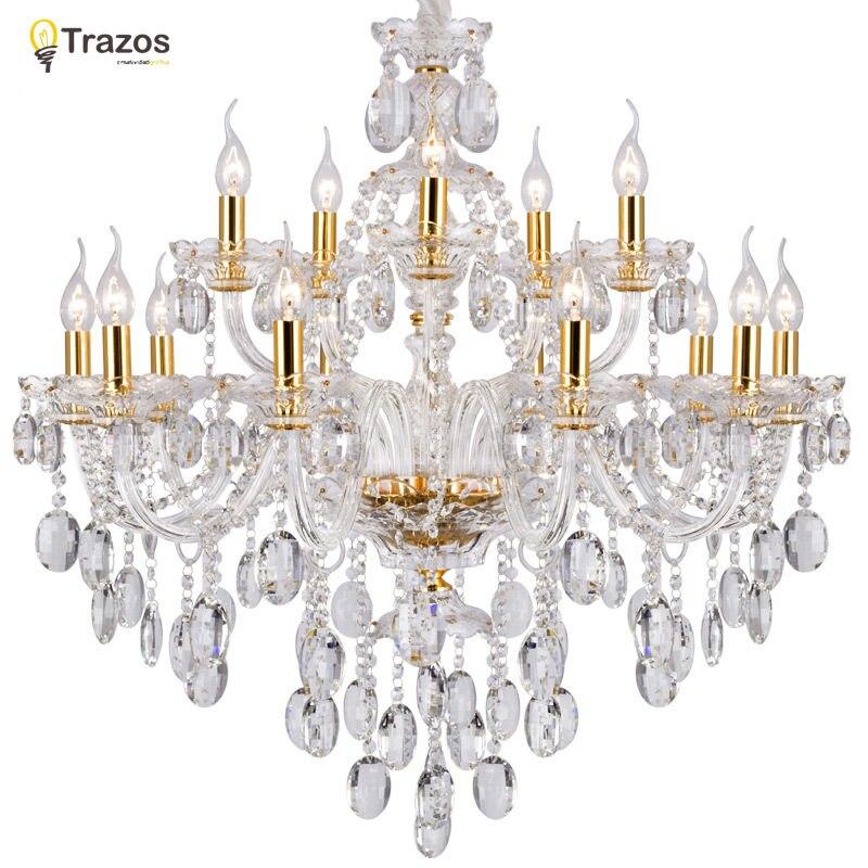 Роскошные хрустальные люстры для Гостиная блеск Сала-де-янтарь cristal современные люстры светильник Свадебные украшения