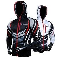Shimano мужская молния с капюшоном рыболовная одежда дышащая Солнцезащитная УФ-защита рыболовная одежда уличная спортивная одежда рыболовная рубашка