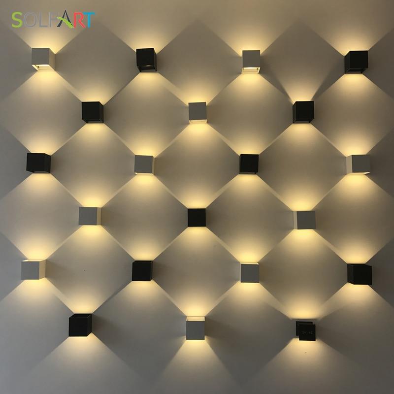 Solfart moderne led sconce væglamper sort skygge væg lys træ - Indendørs belysning - Foto 4