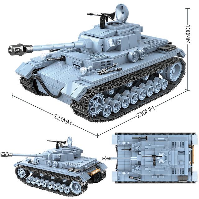 716PCS Technik Military Tank Building Blocks Compatible WW2 Army City Soldier Police Weapon Bricks Sets Boys Toys
