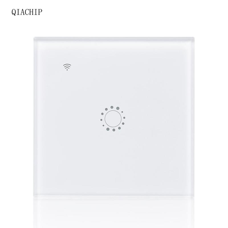 QIACHIP WiFi Smart Switch 1 Gang Light Wall Supported APP Remote Control Work with Amazon Alexa Google Home Switch Voice Control wireless wifi switch smart home automation module timer diy light wall switch app control work with amazon alexa voice control