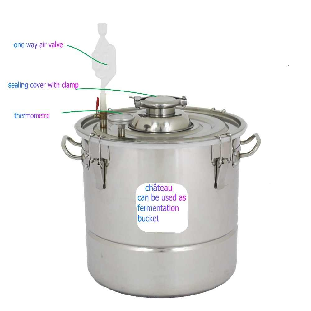Moonshine дистиллятор пивоваренный завод перегонная нержавеющая сталь Still Kit водка домашний Винный Спирт samogon виски 30 50 70 литров