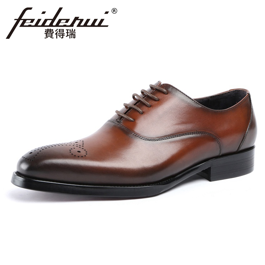 Luxury Brand Genuine Leather Mens Carved Formal Dress Wedding Oxfords Round Toe Medallion Man Handmade Breathable Shoes YMX629Luxury Brand Genuine Leather Mens Carved Formal Dress Wedding Oxfords Round Toe Medallion Man Handmade Breathable Shoes YMX629