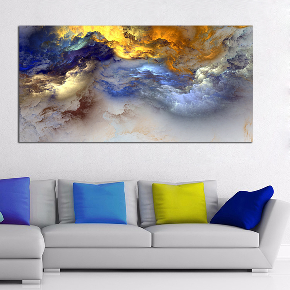 WANGART Malerei, Abstrakte Kunst, Leinwand Wand kunst, Glückliches ...