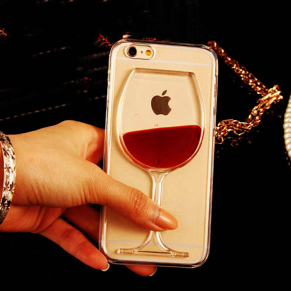 Роскошный lovecom 3D красное вино Стекло телефонные чехлы для Iphone 5, 5s, se всесторонний чехол противоударный Прочный ПК чехол-накладка для телефона в подарок