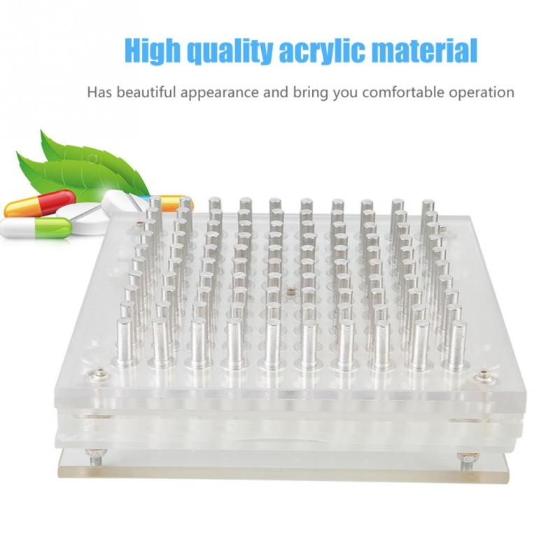 Empty Capsule Plates With Spreader 100 Holes Powder Capsules Filling Tool Manual Filling Capsules Machine