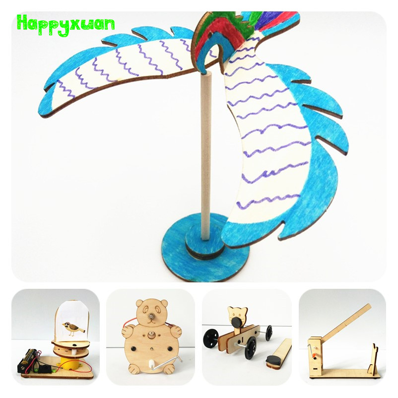 Happyxuan 5pcs Experiment Sets Kids DIY Science Discovery Toys Primary School Education Physics Games Laboratory Inventions Kits