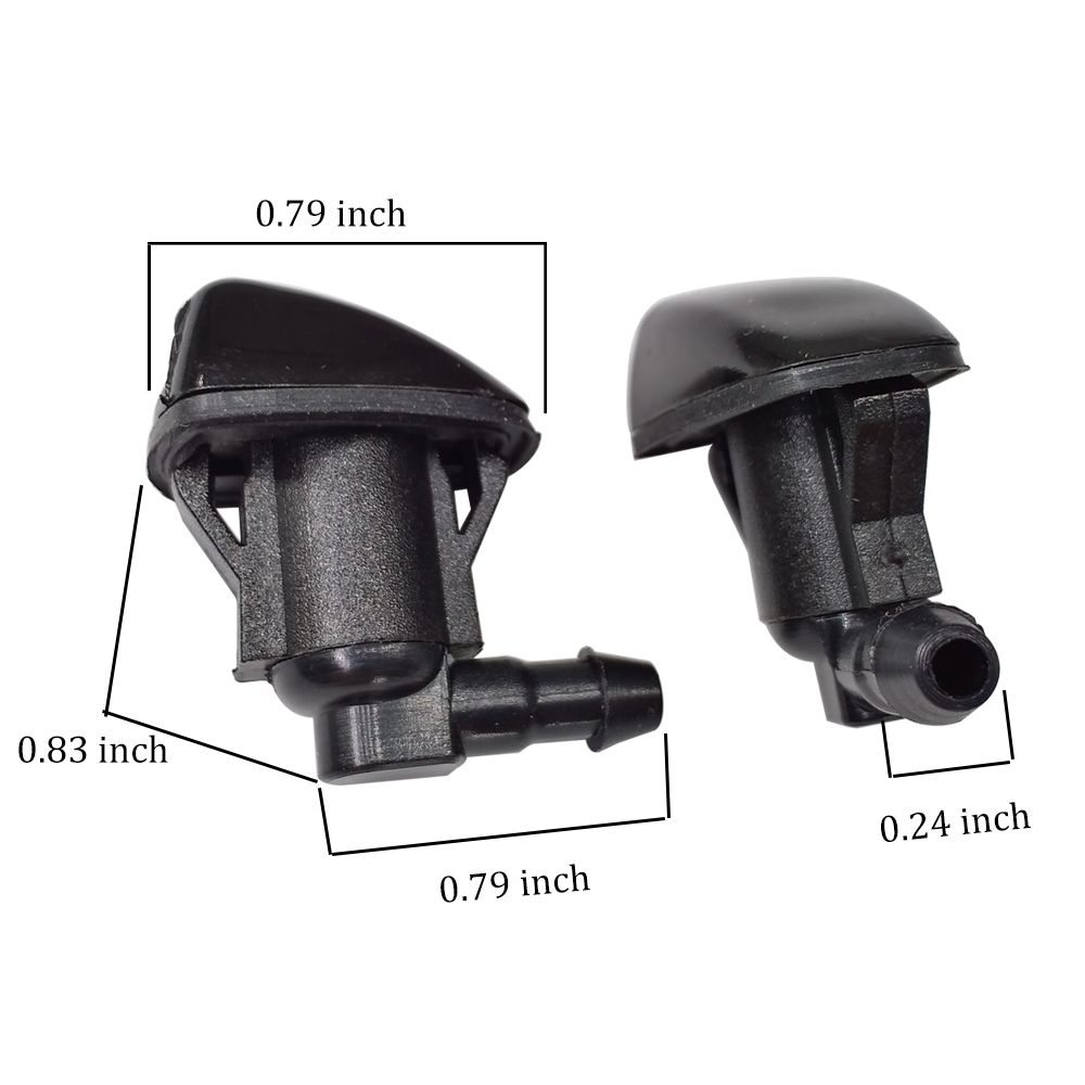Sara-u 2Pcs Windshield Wiper Washer Jet Nozzle Spray for Toyota E120 Corolla Camry XV30