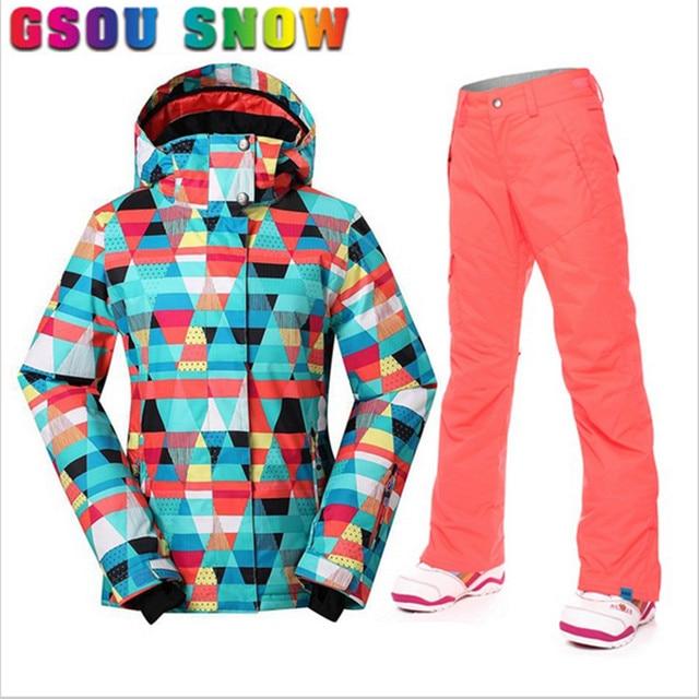 Esquí Snowboard De Nieve Mujer Chaqueta Pantalón Ajustado Super Gsou TAxSwp