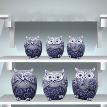 Home Decoration Owl Figurines Office Mini Animals Ornaments Living Room Decor Office Craft Artwork Decoration 1pc Unique Gifts