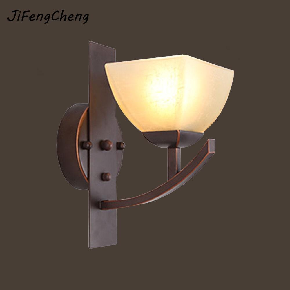 Illuminazione Bagno A Parete jifengcheng e27 applique da parete retrò lampade led luci di