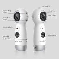 Wunder 360 Dual К lens 4 K 360 камера с Wifi панорамная видеокамера IP 360 Экшн камера для iPhone X поддержка в режиме реального времени Live