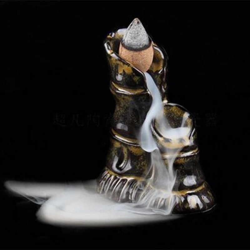9 نمط الإبداعية السيراميك حامل البخور المحمولة ارتجاعي مبخرة Aromatherpy العطر Incenser الموقد مع الجزر المخاريط
