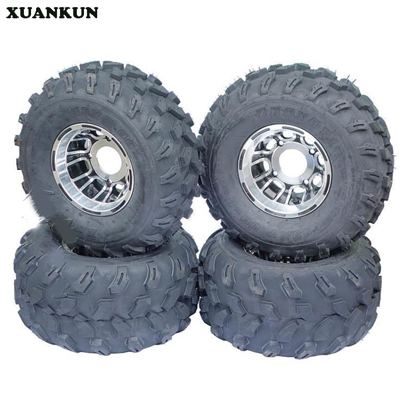 где купить XUANKUN ATV 19x7-8 Inch Tires 18x9.50-8 Inch Vacuum Tires Aluminum Alloy Wheels Tires дешево