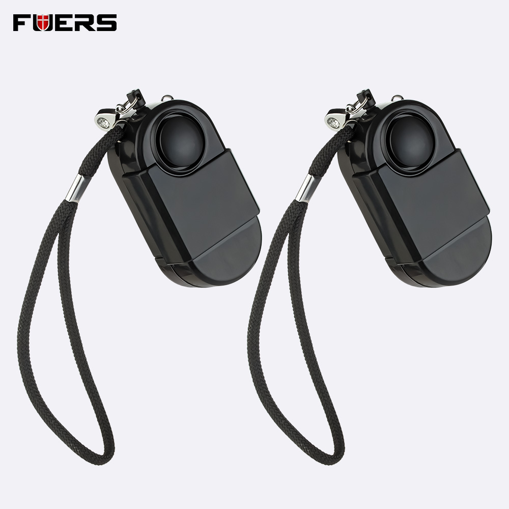 2Pcs Portable Mini 120dB Self Security Anti Theft Pervert Flashlight Camping Travel Infrared Motion Alarm SOS Sensors Detectors