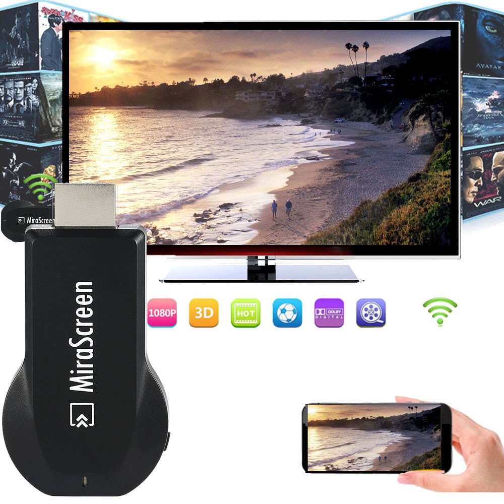 Wireless Wifi HDMI Dongle Airplay to TV HDMI Adapter For iPad/iPhone X XS MAX XR 5 6 7 8 Plus For Samsung S6 S7 EDGE S8+ Android