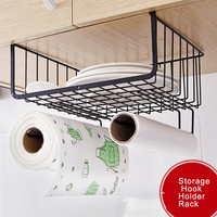 Basket Kitchen Toilet Paper Towel Rack Paper Towel Roll Holder Cabinet Hanging Shelf Organizer Bathroom Kitchen