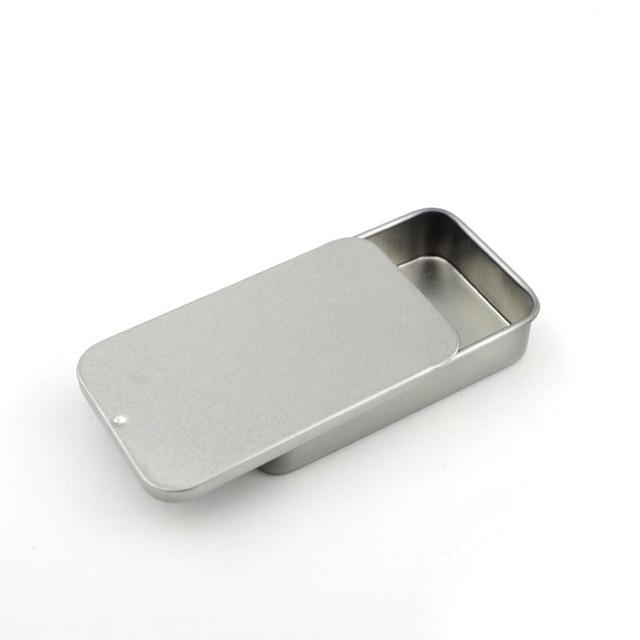 10pcs Mini Slide Metal Storage Box DIY Blank Tin Organizer Box Organizador  Caixa Organizadora Casket Novelty