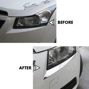 Image 4 - Adesivo de sobrancelha para chevrolet cruze 2009, acessórios cromados para decoração de farol de chevrolet cruze 2010 2011 2012 2013 2014