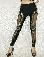Pantolon Yeni Macera Zamanı Tozluk Bro Topu Legging Oymak Altın Punk Seksi Kız Sıcak Tozluk WL7971
