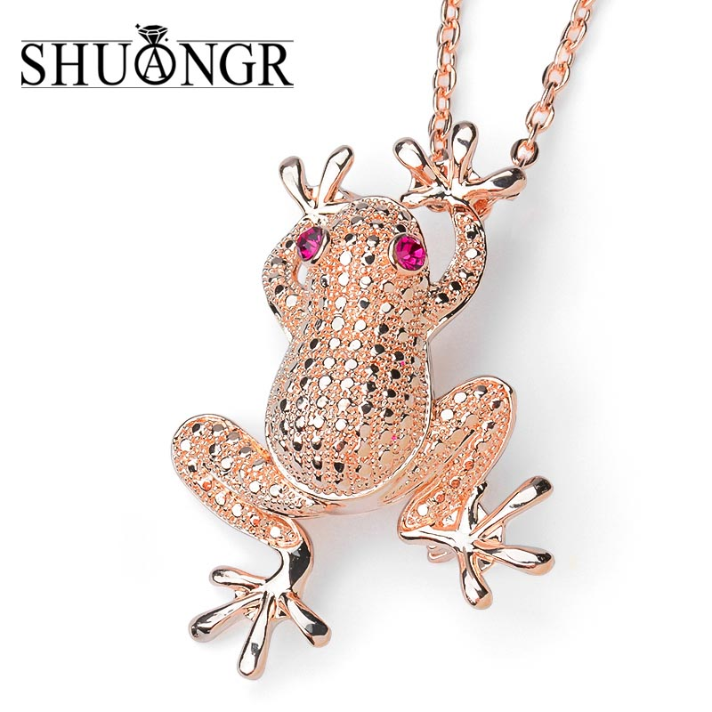 SHUANGR Rhinestone Unique Cute Gold Color Frog Brooch Carve Full Shining Rhinestone Brooch Pin Women Men Dress Gifts ...