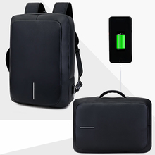 15.6 Multifunction Laptop Backpack Black Business Male Anti-theft USB Charging Functional Rucksack Leisure Travel