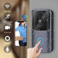 Smart Wifi Doorbell Camera Wireless Video Recorder Intercom Bell HD 720P Door Bell IR Alarm Motion Detected Door Lens Video eyes