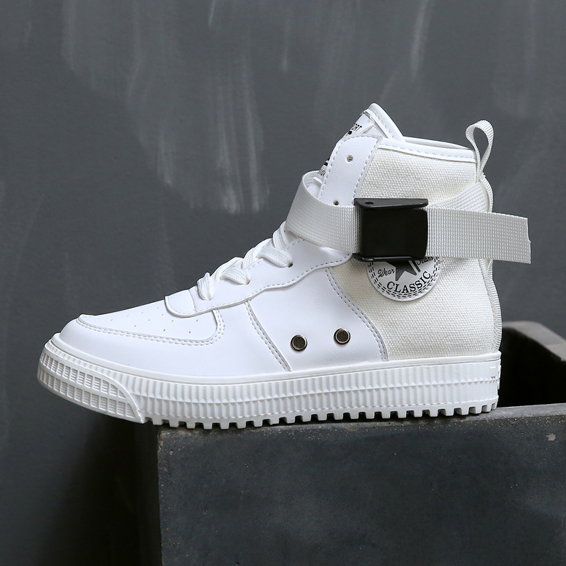 Women Sneakers 2018 New PU Leather Women Casual Shoes Lace-Up Women Fashion Shoes Platform Flats High top Women Shoes цены
