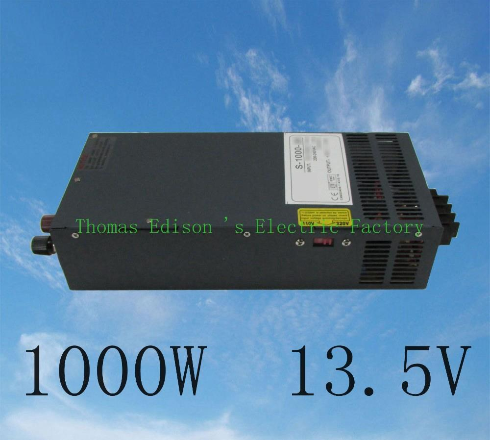 DIANQI 1000W 13.5V 74A 110V or 220v input Single Output Switching power supply for LED Strip light AC to DC power supply best quality 12v 15a 180w switching power supply driver for led strip ac 100 240v input to dc 12v