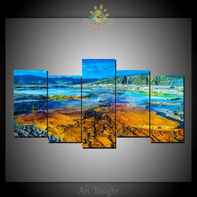 5 piece yellow stone national park canvas art modern wall pictures