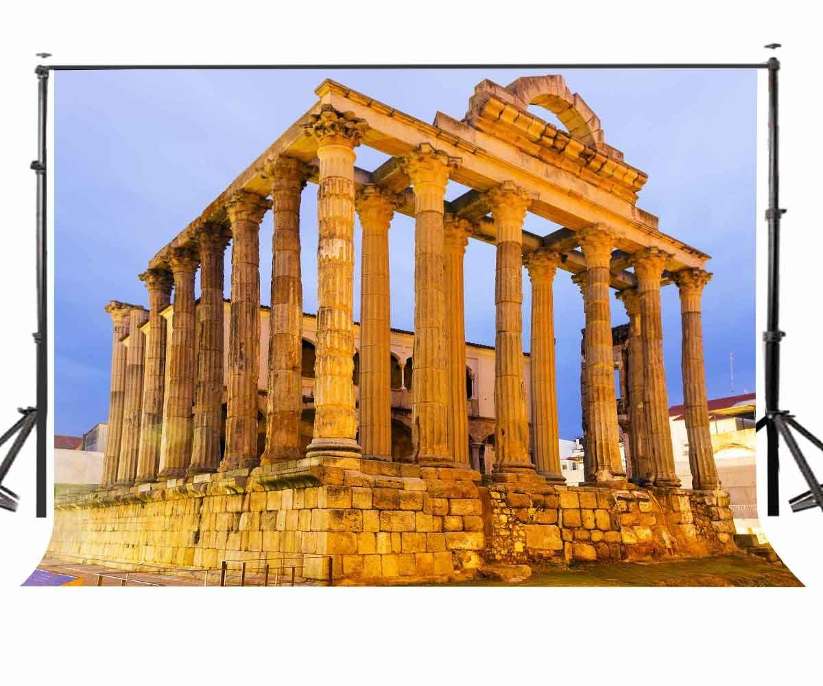 7x5ft Photography Backdrop Architectural Landscape Backdrop Greek Temple Photography Background Studio Props in Photo Studio Accessories from Consumer Electronics