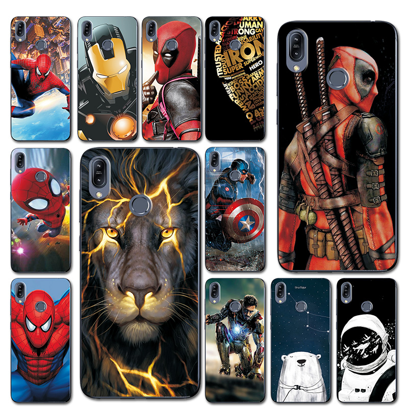For ASUS Zenfone Max M2 ZB633KL Brilliant Design Phone Bags Silicone Case Cover For Zenfone Max M2 ZB633KL 6.3'' Comic Spiderman
