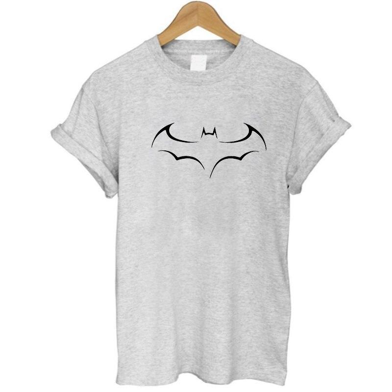 2017 New Fashion Women T-shirts printed Batman short sleeve t shirts Stretch Cotton short sleeve shirt