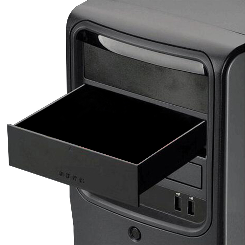New Black 523 Floppy Drives Bit 5.25-Inch Metal Shell Computer Chassis CD-ROM Drive Drawer Storage Cabinet Cigarette Storage Box