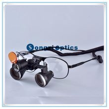 (2.5X,3X,3.5X optional) Titanium frames Binocular Surgical Dental Loupes With LED light Come With a Yellow Fliter