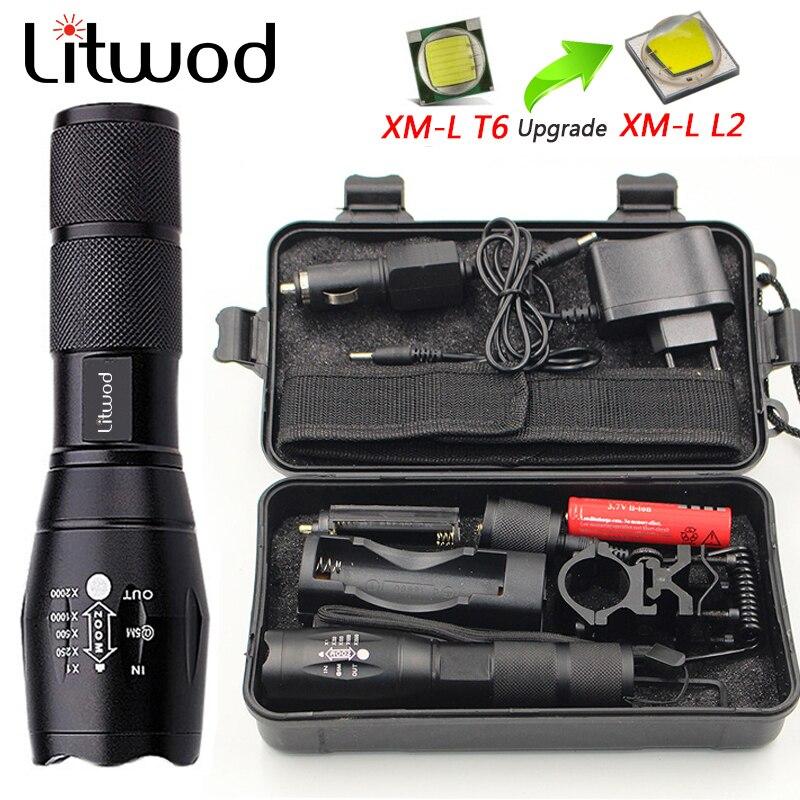 Z50 CREE XM-L T6 led taktische taschenlampe 5000Lm zoomable fackel für Jagd licht + batterie + Fernschalter + Ladegerät + Gun Mount