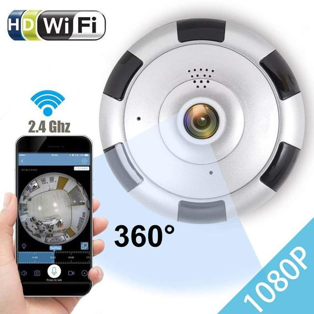US $38 0 |Aliexpress com : Buy Smart Home Security Camera 360 degree wifi  Panoramic security camera 1080p FULL HD wireless Fisheye from Reliable 360°