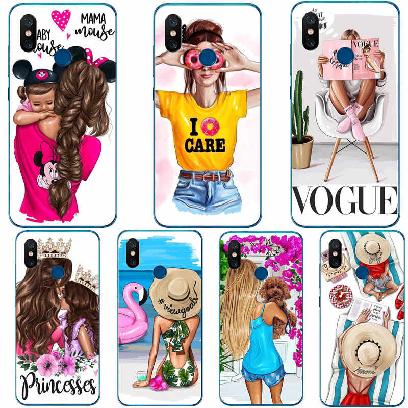 Summer travel time Hair Baby Mom Girl Case For Huawei P8 Lite 2017 P9 P10 Plus P20 P20 Pro Mate 20 10 Lite Silicone Phone Cover