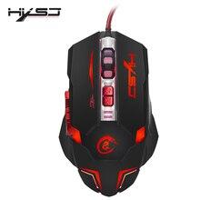 HXSJ H600 USB Professionale Wired Rapido In Movimento HA CONDOTTO LA Luce Gaming Mouse Periferiche di Gioco con 7 Pulsanti di Codifica Topi