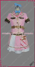 Aikatsu Amis! Palette Aine Pure Yuki lien coordinateur. Robe rose Costume Cosplay S002(China)