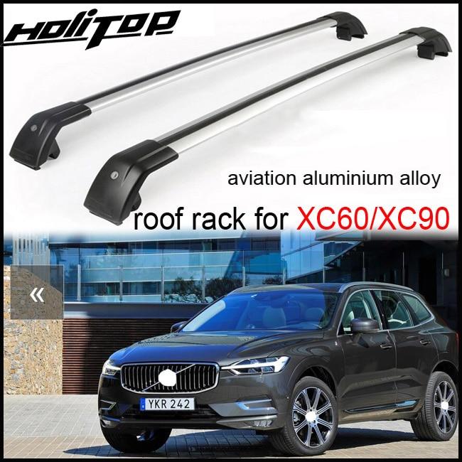 Galerie de toit/rail de toit/barre transversale (poutre transversale) pour Volvo XC60 XC90 2013-2017, alliage d'aluminium d'aviation (meilleur), vendeur sûr de SUV de 5 ans