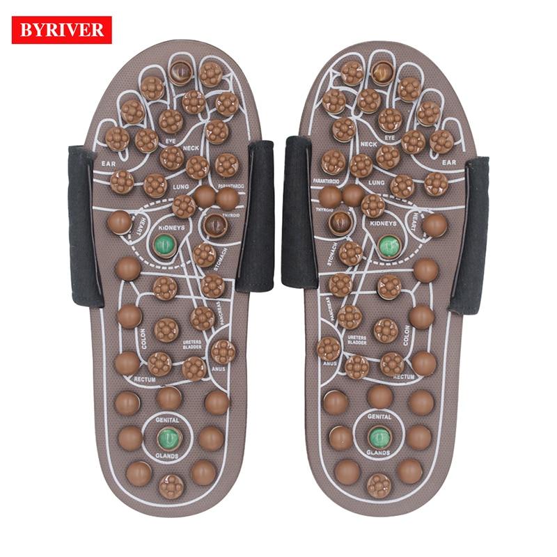 edea93edd918 BYRIVER Acupressure Foot Massager Jade Stone Acupoint Massage ...