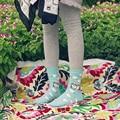 De las mujeres calcetines de dibujos animados de animales gallinas ovejas cerdos Sra. cinco calcetines de algodón de color otoño y el invierno de espesor El primer sencillo venta