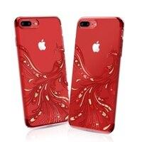 KAVARO Capa For IPhone 7 7 Plus Case SWAROVSKI Crystal Diamond Plated Phoenix Phone Case For