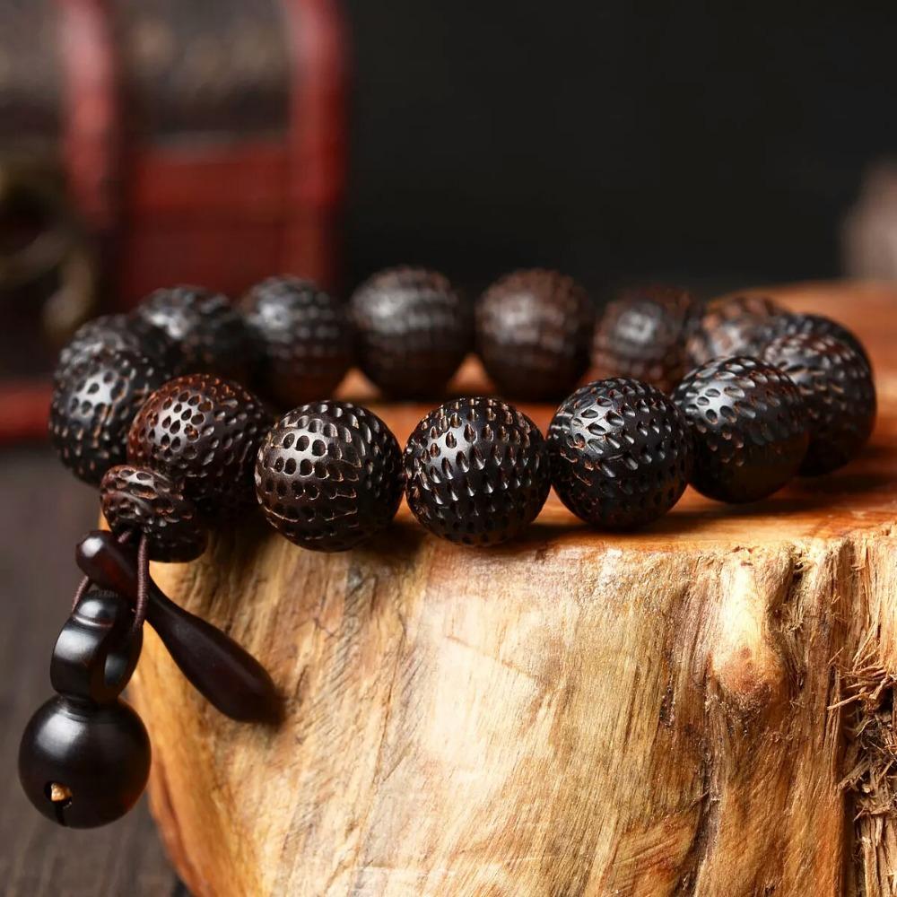 7a8e2099b53a Retro joyas pulsera de buda yoga mala grano de madera del grano del ...