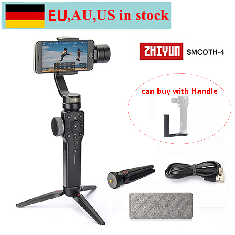 Zhiyun Smooth 4 3-Axis Handheld Gimbal Stabilizer For IPhone X 8 7 Plus 6 Plus Samsung Galaxy S8+ S8 S7 S6 S5,Smooth 4